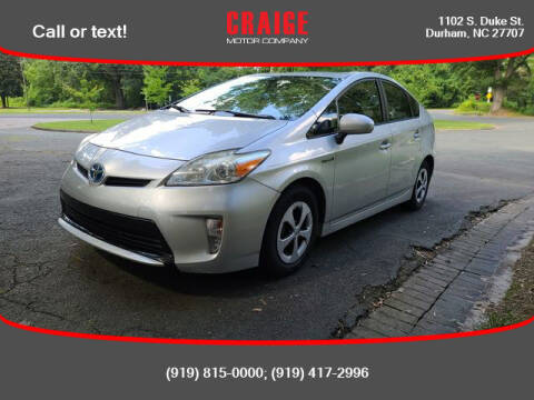 2012 Toyota Prius for sale at CRAIGE MOTOR CO in Durham NC