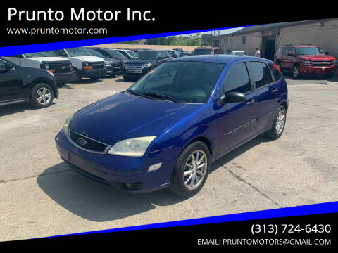 2005 Ford Focus for sale at Prunto Motor Inc. in Dearborn MI