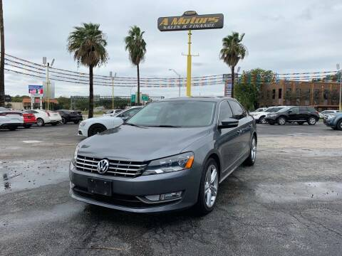 2015 Volkswagen Passat for sale at A MOTORS SALES AND FINANCE in San Antonio TX