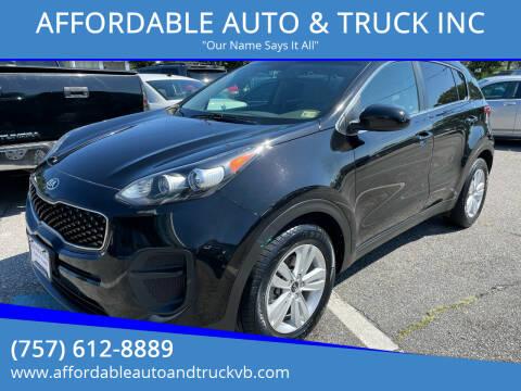 2017 Kia Sportage for sale at AFFORDABLE AUTO & TRUCK INC in Virginia Beach VA