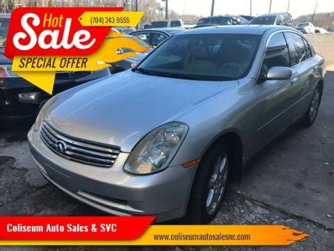 2003 Infiniti G35 for sale at Coliseum Auto Sales & SVC in Charlotte NC