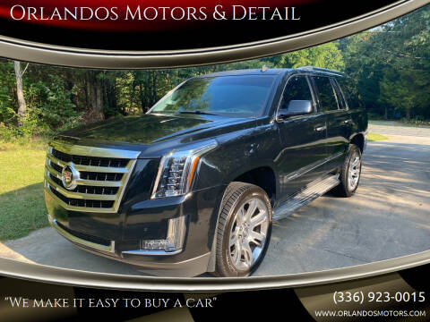 2015 Cadillac Escalade for sale at Orlandos Motors & Detail in Winston Salem NC