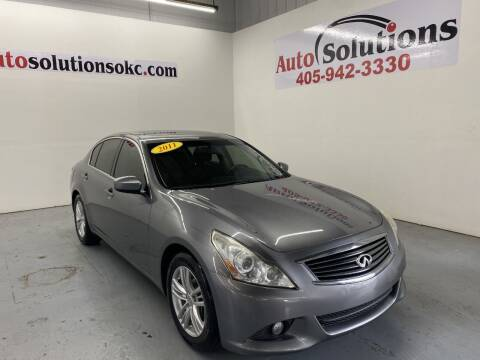 2011 Infiniti G37 Sedan for sale at Auto Solutions in Warr Acres OK