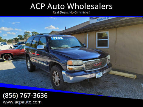 2003 GMC Yukon for sale at ACP Auto Wholesalers in Berlin NJ