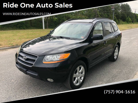 2009 Hyundai Santa Fe for sale at Ride One Auto Sales in Norfolk VA