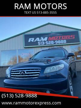 2007 Infiniti FX35 for sale at RAM MOTORS in Cincinnati OH