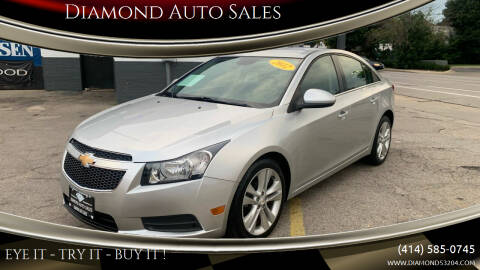 2012 Chevrolet Cruze for sale at Diamond Auto Sales in Milwaukee WI