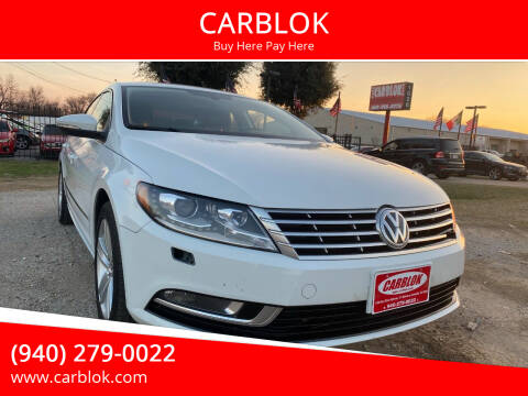 2016 Volkswagen CC for sale at CARBLOK in Lewisville TX