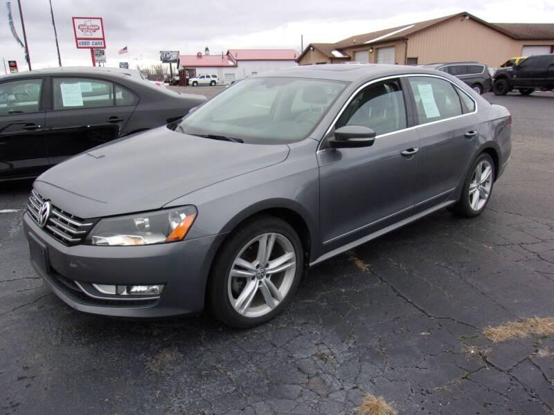 2013 Volkswagen Passat for sale at DAVE KNAPP USED CARS in Lapeer MI