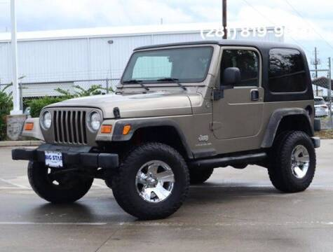 2005 Jeep Wrangler for sale at BIG STAR HYUNDAI in Houston TX