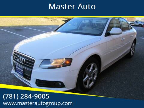 2009 Audi A4 for sale at Master Auto in Revere MA