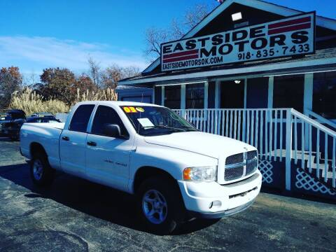 2003 Dodge Ram Pickup 1500 for sale at EASTSIDE MOTORS in Tulsa OK