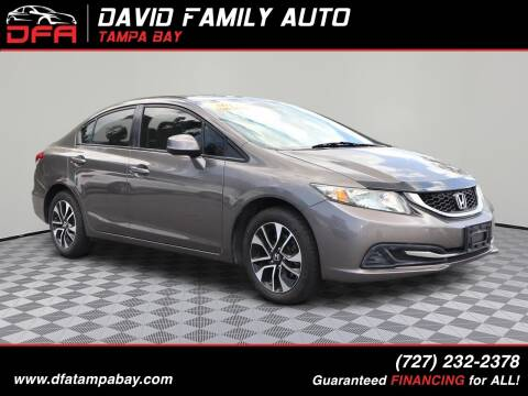 2013 Honda Civic for sale at David Family Auto in New Port Richey FL