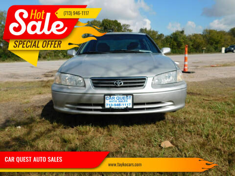 2001 Toyota Camry for sale at CAR QUEST AUTO SALES in Houston TX