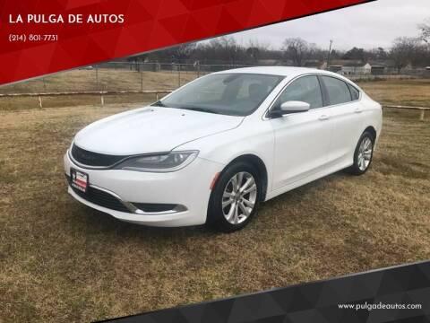 2015 Chrysler 200 for sale at LA PULGA DE AUTOS in Dallas TX