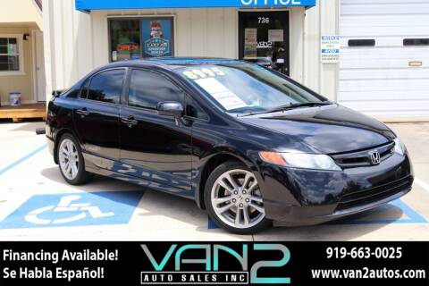 2008 Honda Civic for sale at Van 2 Auto Sales Inc in Siler City NC