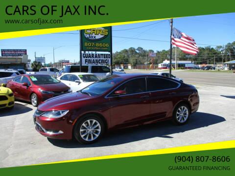 2015 Chrysler 200 for sale at CARS OF JAX INC. in Jacksonville FL