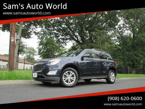 2016 Chevrolet Equinox for sale at Sam's Auto World in Roselle NJ