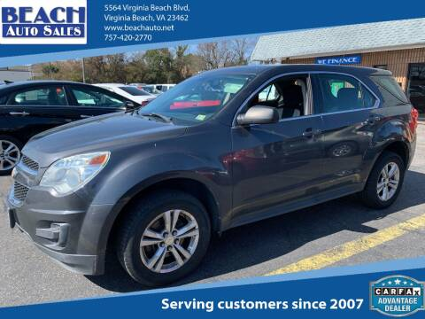 2011 Chevrolet Equinox for sale at Beach Auto Sales in Virginia Beach VA