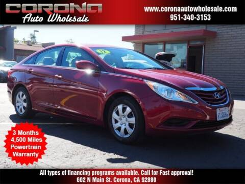 2012 Hyundai Sonata for sale at Corona Auto Wholesale in Corona CA