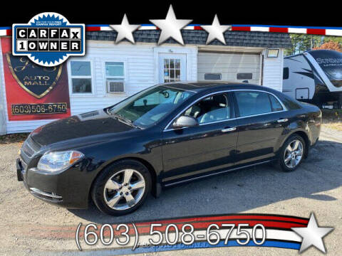 2012 Chevrolet Malibu for sale at J & E AUTOMALL in Pelham NH