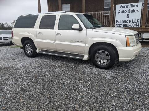 2005 Cadillac Escalade ESV for sale at Vermilion Auto Sales & Finance in Erath LA