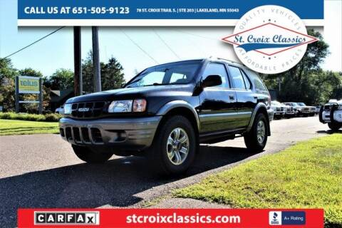 2000 Isuzu Rodeo for sale at St. Croix Classics in Lakeland MN