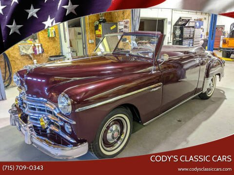 1949 Dodge Wayfarer Roadster for sale at Cody's Classic Cars in Stanley WI