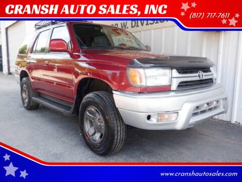 2001 Toyota 4Runner for sale at CRANSH AUTO SALES, INC in Arlington TX