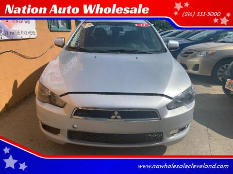 2011 Mitsubishi Lancer for sale at Nation Auto Wholesale in Cleveland OH