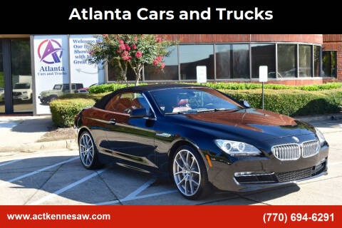 2012 BMW 6 Series for sale at Atlanta Cars and Trucks in Kennesaw GA
