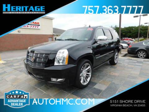 2014 Cadillac Escalade for sale at Heritage Motor Company in Virginia Beach VA