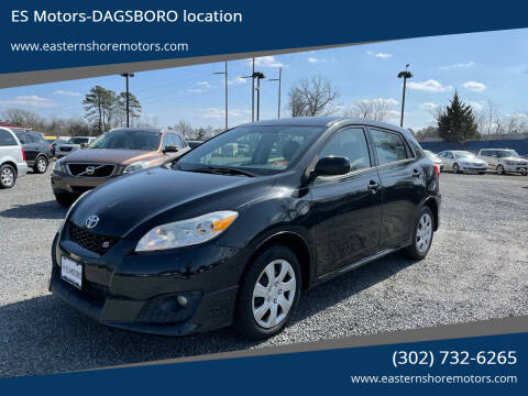 2009 Toyota Matrix for sale at ES Motors-DAGSBORO location in Dagsboro DE