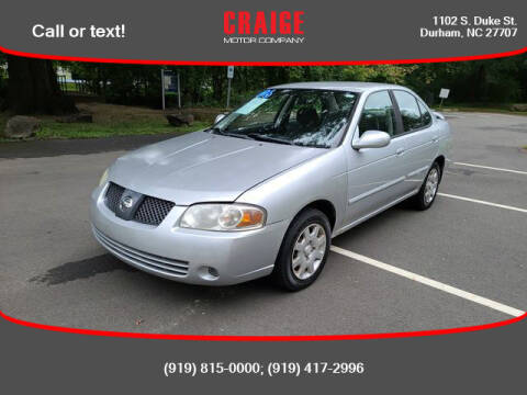 2006 Nissan Sentra for sale at CRAIGE MOTOR CO in Durham NC