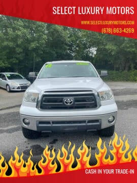2012 Toyota Tundra for sale at Select Luxury Motors in Cumming GA