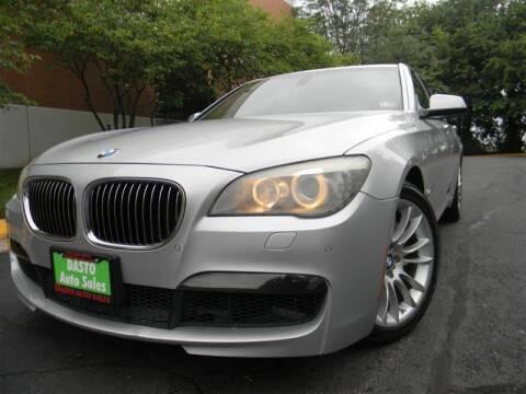 2011 BMW 7 Series for sale at Dasto Auto Sales in Manassas VA