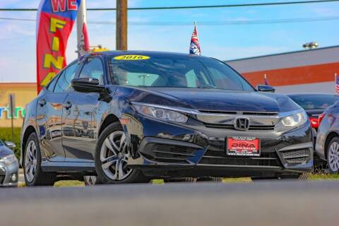 2016 Honda Civic for sale at Dina Auto Sales in Paterson NJ