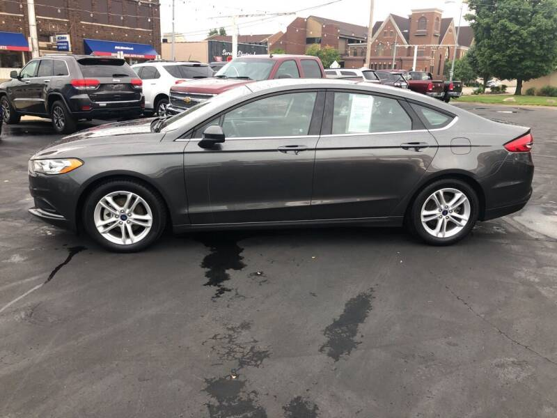 2018 Ford Fusion for sale at N & J Auto Sales in Warsaw IN