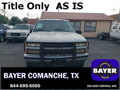 1997 Chevrolet Tahoe for sale at Bayer Motor Co in Comanche TX