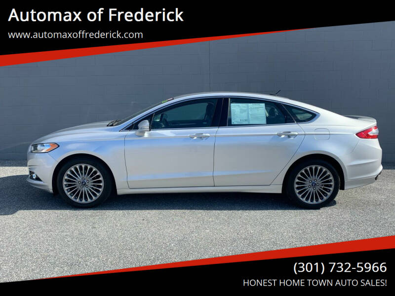 2013 Ford Fusion for sale at Automax of Frederick in Frederick MD