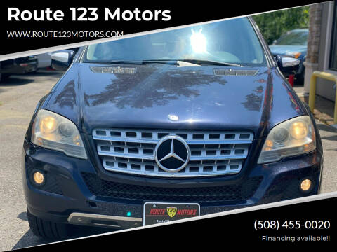 2010 Mercedes-Benz M-Class for sale at Route 123 Motors in Norton MA