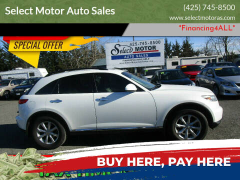 2008 Infiniti FX35 for sale at Select Motor Auto Sales in Lynnwood WA