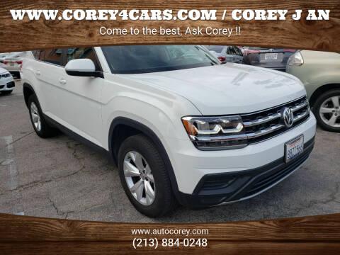 2018 Volkswagen Atlas for sale at WWW.COREY4CARS.COM / COREY J AN in Los Angeles CA