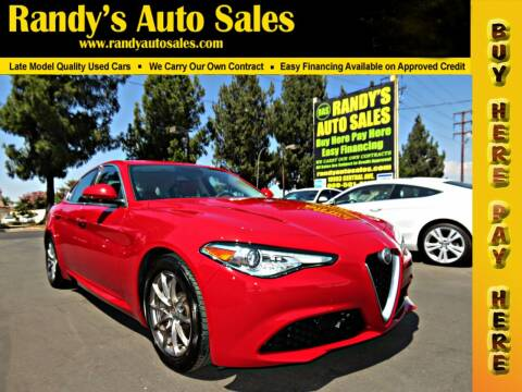 2018 Alfa Romeo Giulia for sale at Randy's Auto Sales in Ontario CA