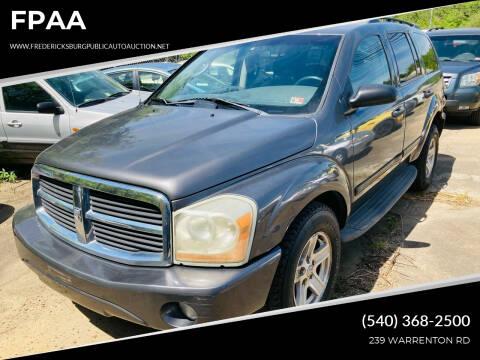 2004 Dodge Durango for sale at FPAA in Fredericksburg VA