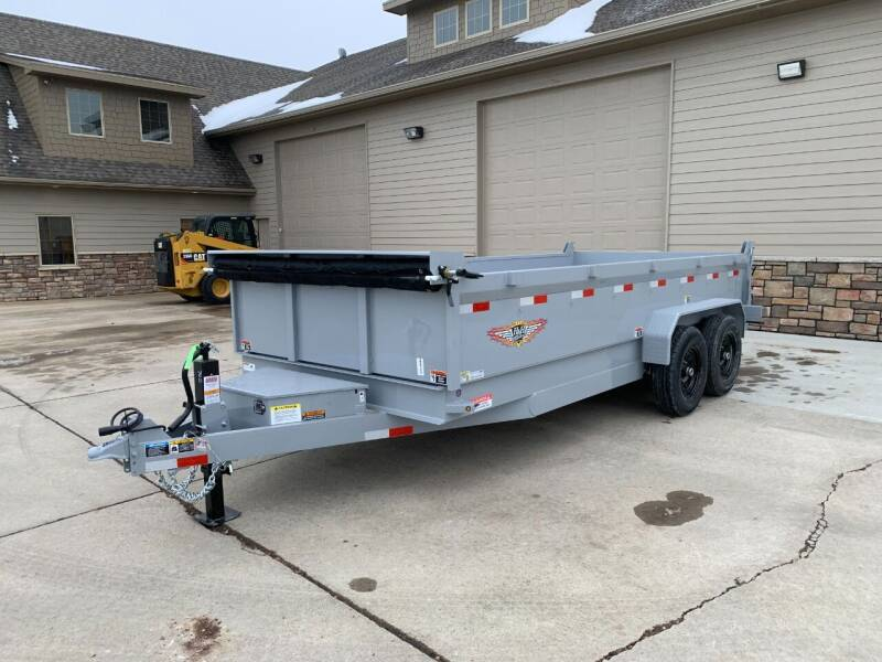 2021 H&H DBW-16 Dump Box Gray #8702 for sale at Prairie Wind Trailers, LLC in Harrisburg SD