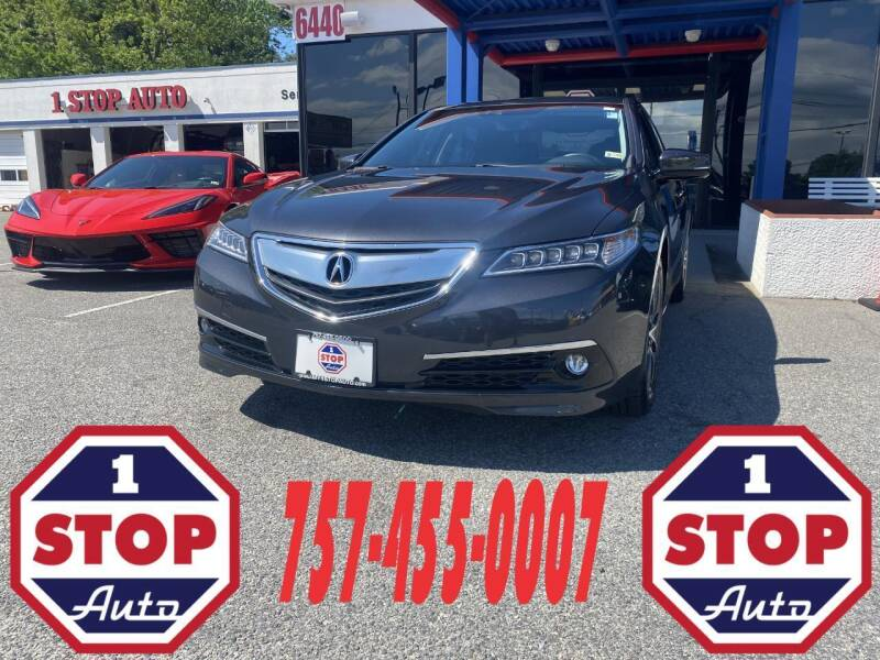 2016 Acura TLX for sale at 1 Stop Auto in Norfolk VA