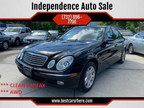 2004 Mercedes-Benz E-Class for sale at Independence Auto Sale in Bordentown NJ