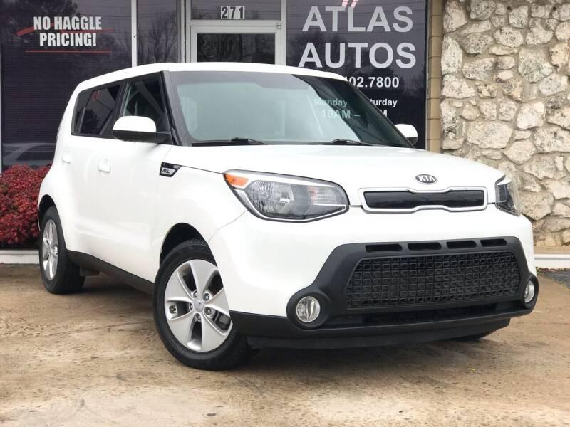2016 Kia Soul for sale at ATLAS AUTOS in Marietta GA