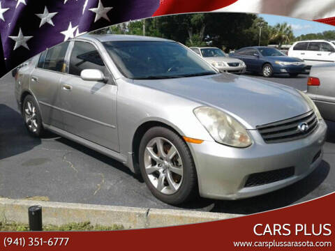 2005 Infiniti G35 for sale at Cars Plus in Sarasota FL
